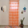 Full Ruffled Georgette Curtain Peach