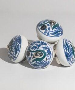 Floral vintage ceramic door knobs