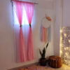 Overlapping Sheer Curtains Candy Pink