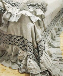 Triple Layer Lace Duvet Cover With Frills