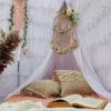 Bohemian Canopy Kit With Macramé Cushion Covers