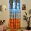Full Ruffled Georgette Curtain Dark Hues