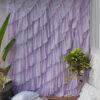 Full Diagonal Ruffle Curtain Soothing Lavender