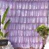 Full Ruffle Pastel Colored Curtains - Soothing Lavender